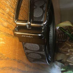 Designer coach belt